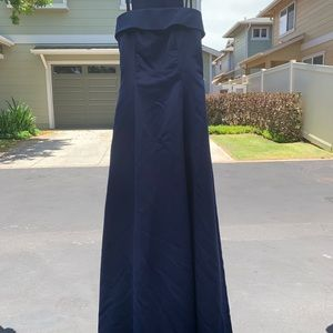 Strapless ball gown with shawl